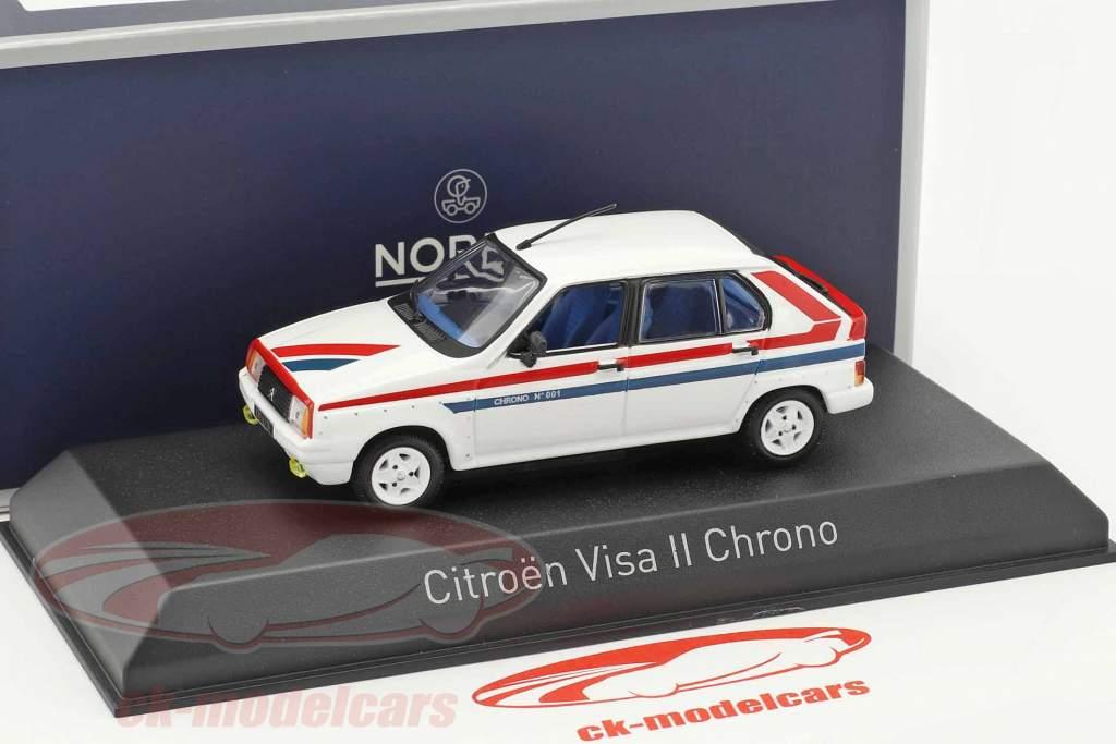 Citroen Visa II Chrono anno di costruzione 1982 bianco / rosso / blu 1:43 Norev