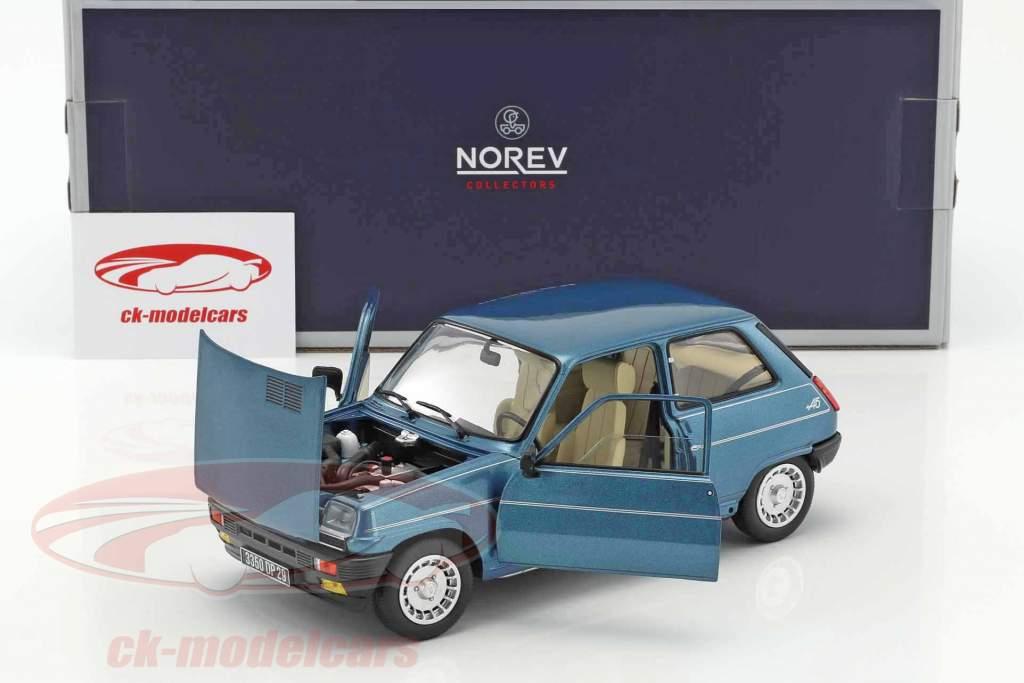 Renault 5 Alpine Turbo year 1981 blue metallic 1:18 Norev