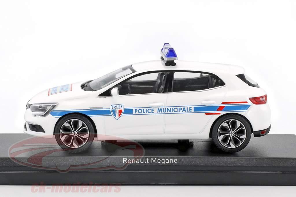 Renault Mégane Police Municipale année de construction 2016 blanc 1:43 Norev
