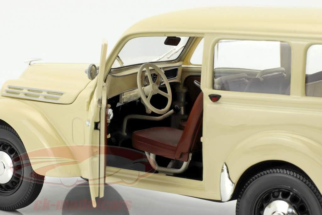 Renault Break 300 kg Juvaquatre Baujahr 1951 elfenbein 1:18 Norev