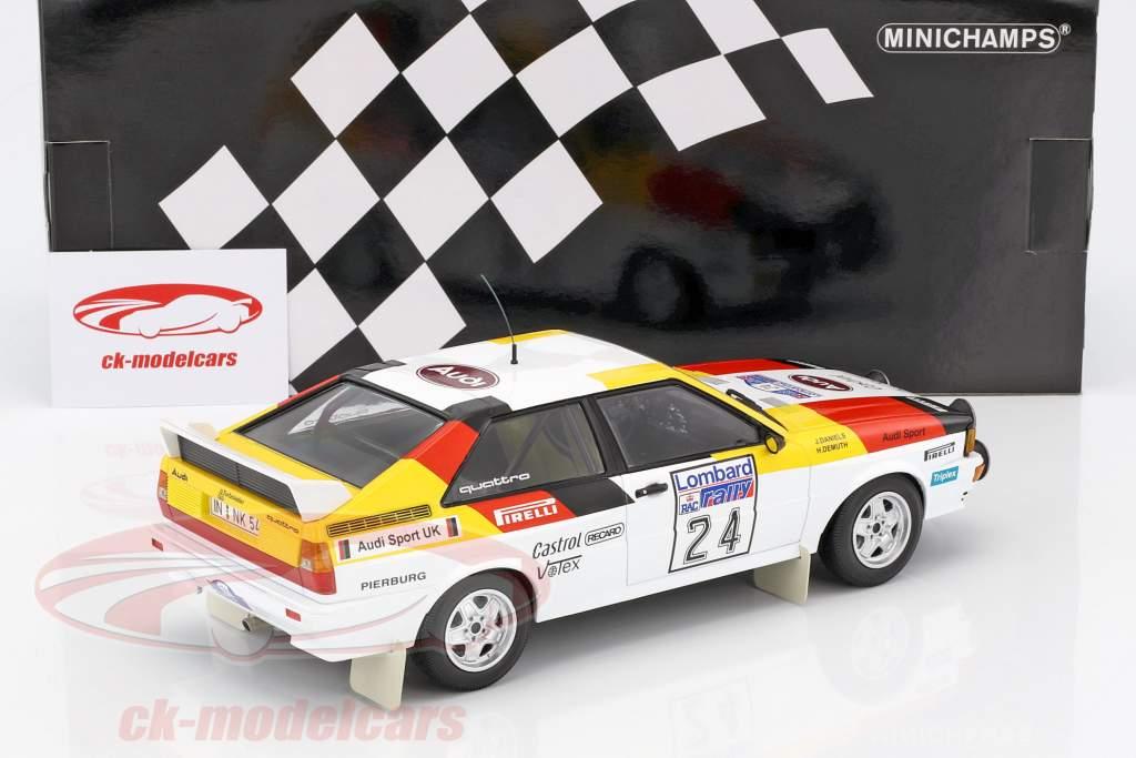 Audi Quattro #24 5th Lombard RAC Rallye 1982 Demuth, Daniels 1:18 Minichamps