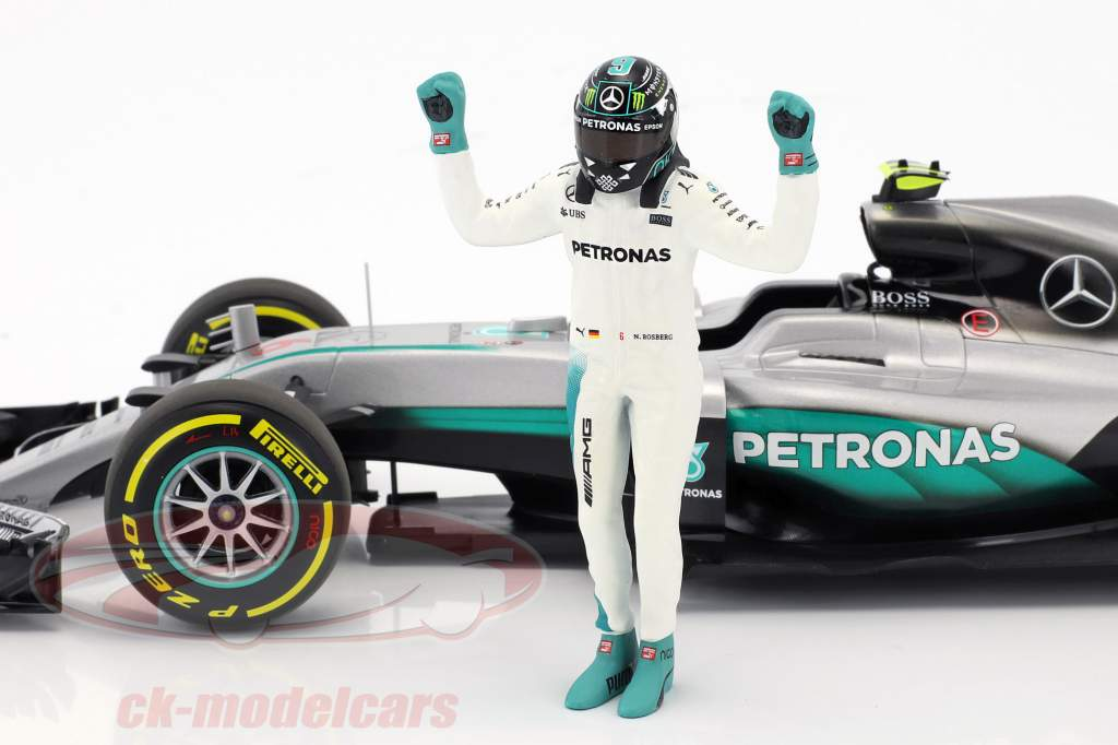 Nico Rosberg Mercedes F1 W07 Hybrid #6 World Champion formula 1 2016 With driver figure 1:18 Minichamps