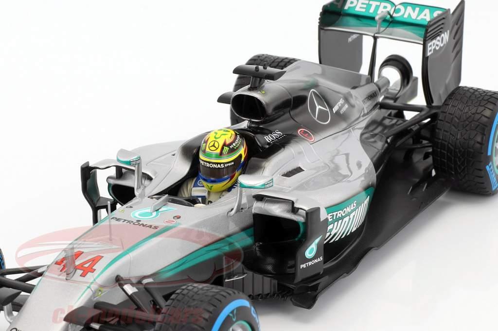 Lewis Hamilton Mercedes F1 W07 Hybrid #44 gagnant Brésil GP formule 1 2016 1:18 Minichamps