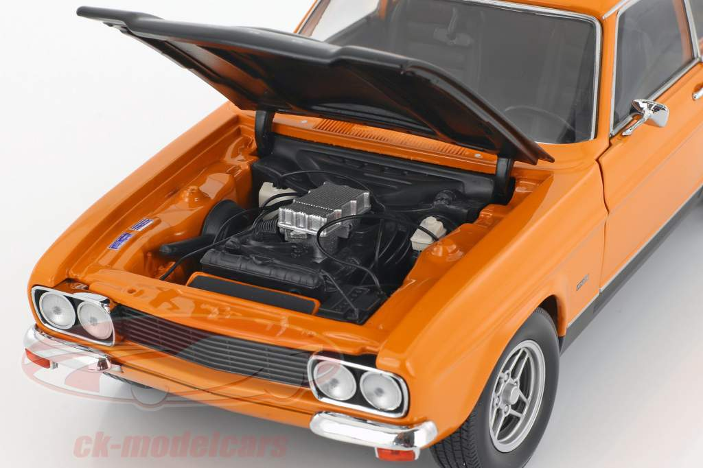 Ford Capri RS 2600 année de construction 1970 orange / noir 1:18 Minichamps