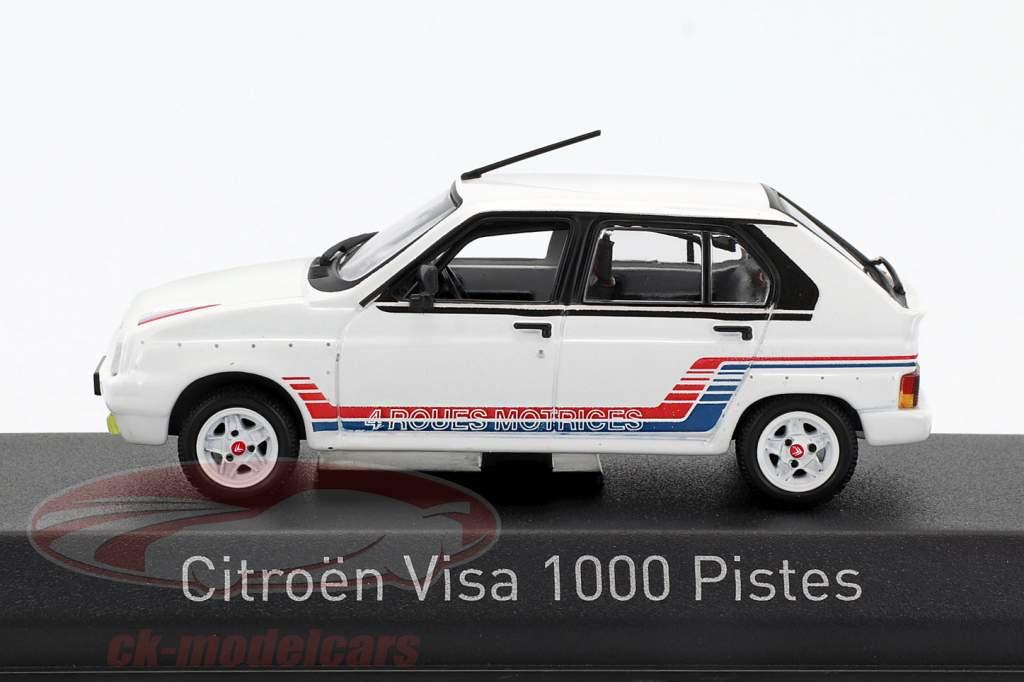 Citroen Visa 1000 Pistes année de construction 1983 blanc 1:43 Norev