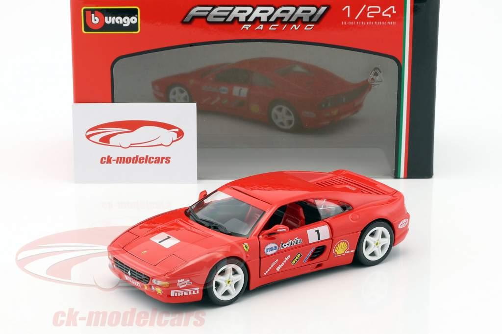 Ferrari F355 Challenge #1 rouge 1:24 Bburago