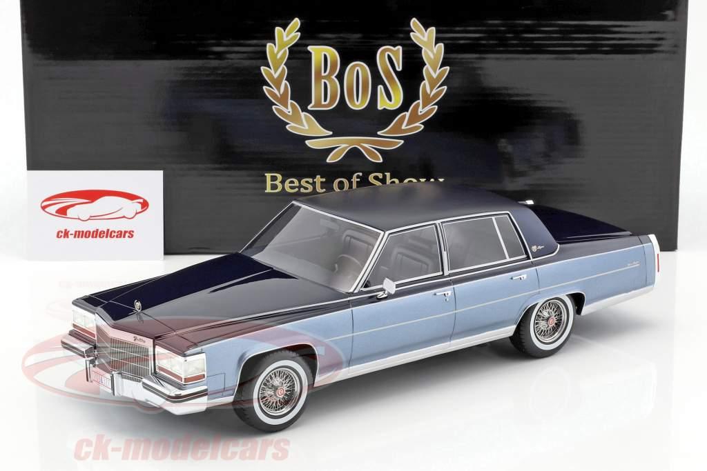 Cadillac Fleetwood Brougham année de 1982 bleu / bleu clair 1:18 BoS-Models
