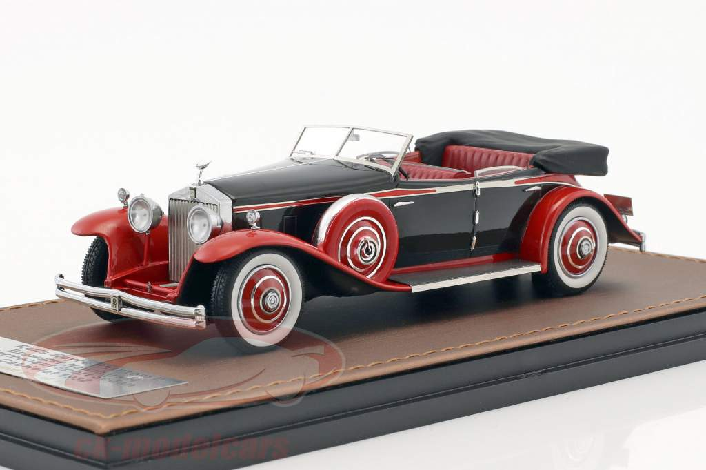Rolls-Royce Phantom II Brewster Newmarket Permanent Sport Sedan Open Construction year 1932 red 1:43 GLM