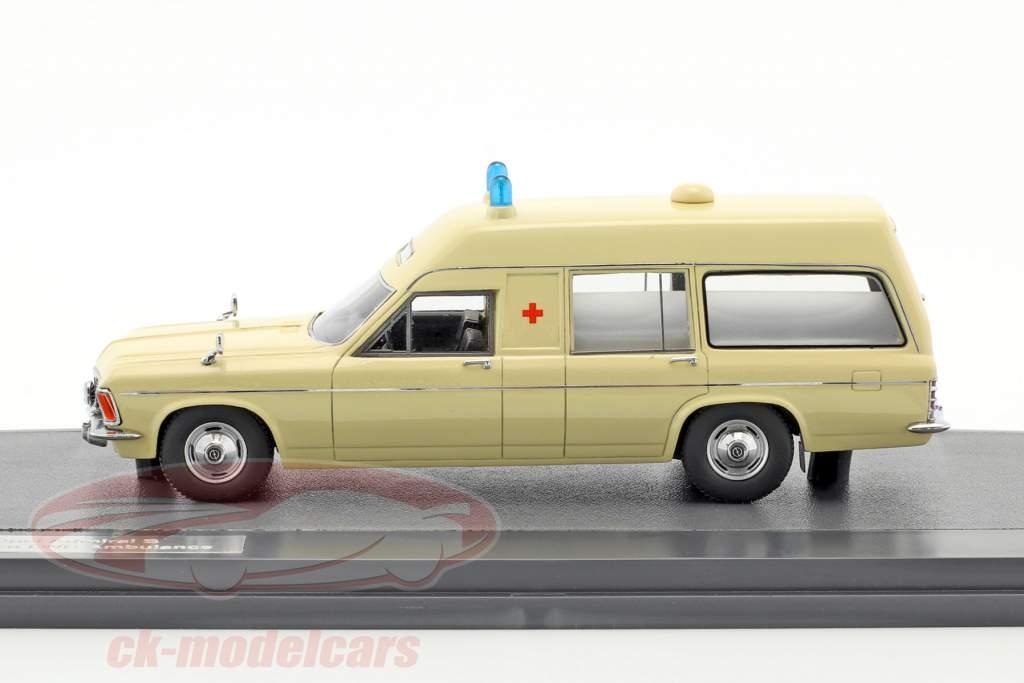 Opel Admiral B Miesen LWB Ambulance année de construction 1970 beige 1:43 Matrix