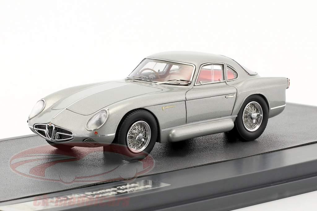 Alfa Romeo 2000 Sportiva Coupe Bertone anno di costruzione 1954 argento 1:43 Matrix