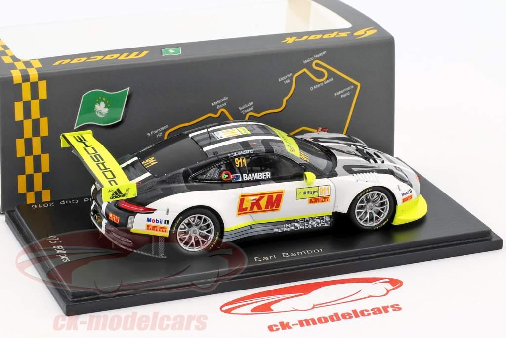 Porsche 911 (991) GT3 R #911 4th Macau GT World Cup 2016 Bamber 1:43 Spark