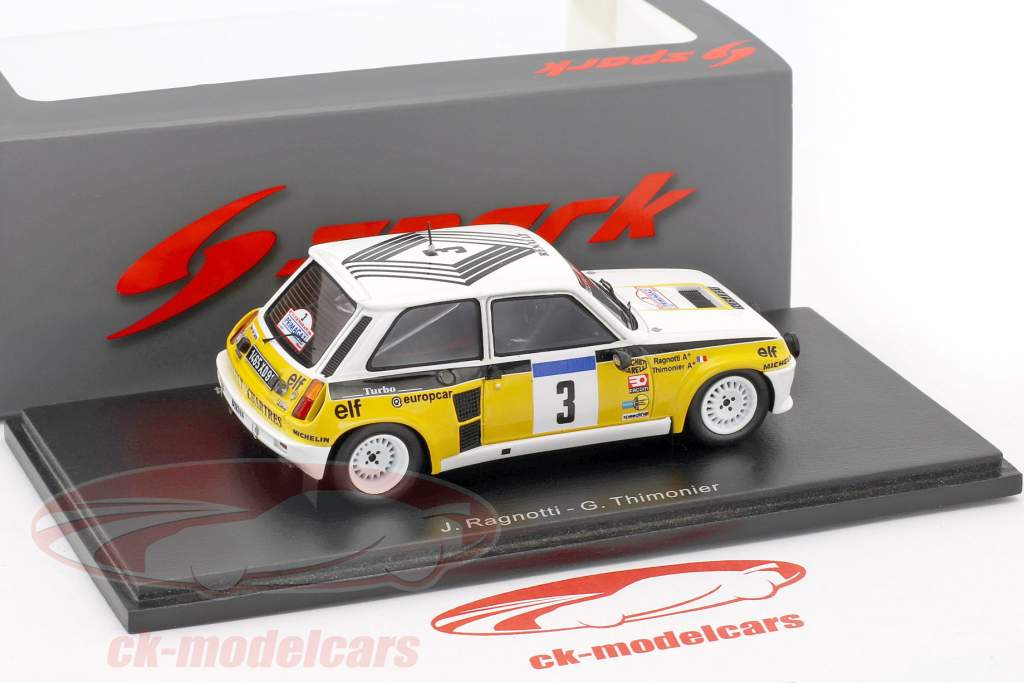 Renault 5 Turbo #3 Winner Tour de France 1984 Ragnotti, Thimonier 1:43 Spark