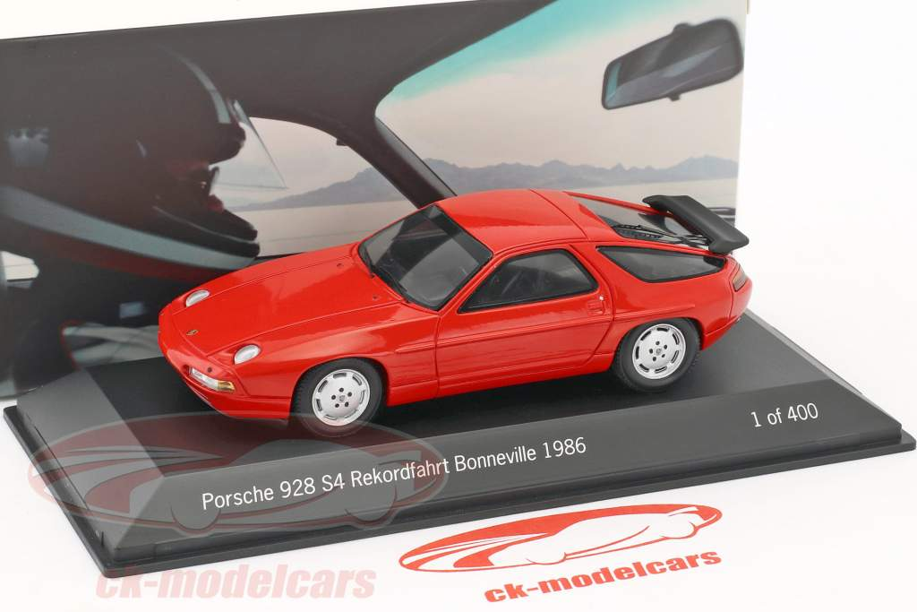 Porsche 928 S4 record run 275 km/h Bonneville 1986 Holbert red 1:43 Spark