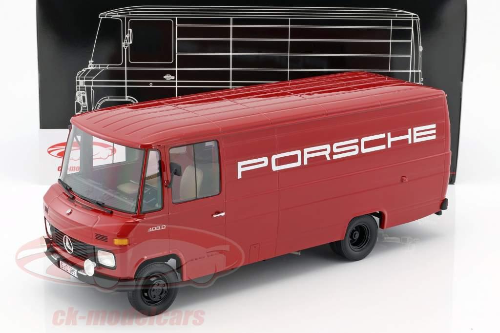 Mercedes-Benz L408 Porsche furgone anno di costruzione 1972 rosso 1:18 PremiumClassiXXs