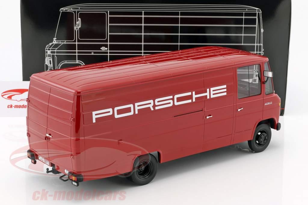 Mercedes-Benz L408 Porsche van year 1972 red 1:18 PremiumClassiXXs