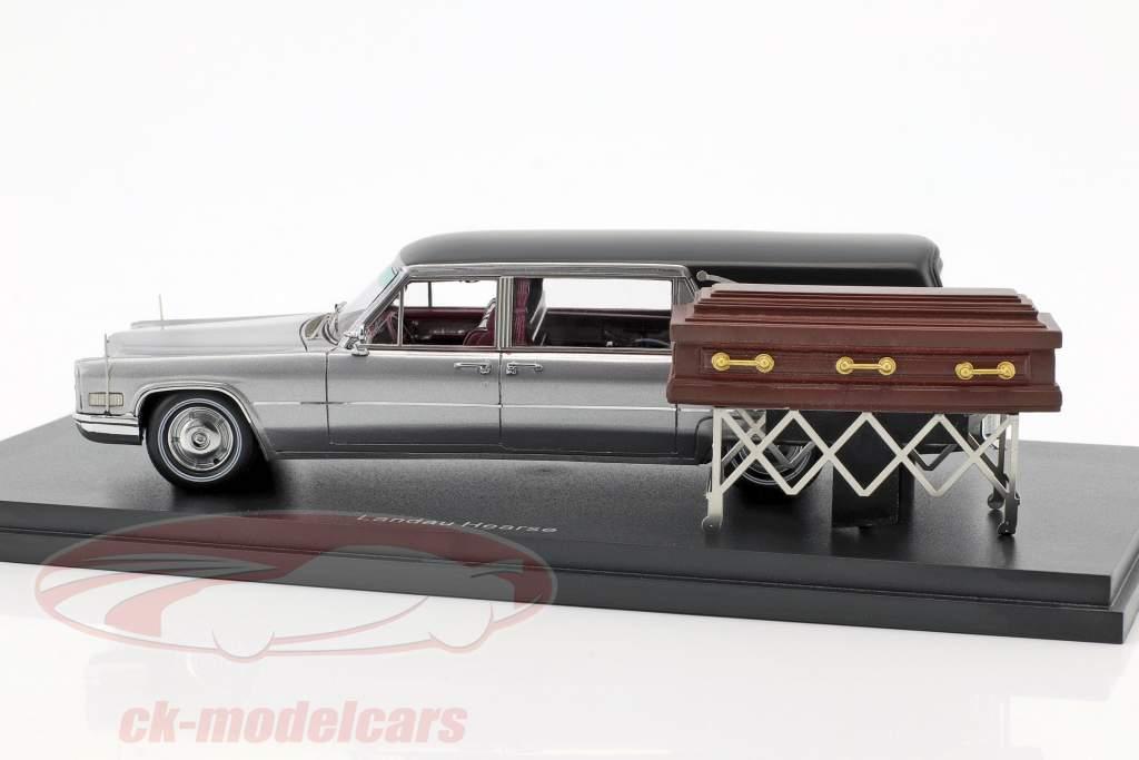 Cadillac Landau carro funebre argento / nero 1:43 Neo