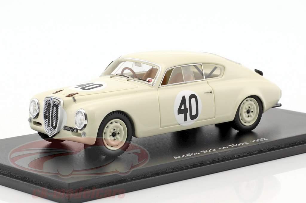 Lancia Aurelia B20 #40 24h LeMans 1952 Bonetto, Anselmi 1:43 Spark