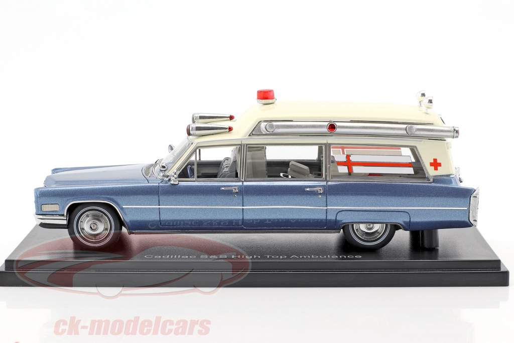 Cadillac High Top ambulance bleu / blanc 1:43 Neo