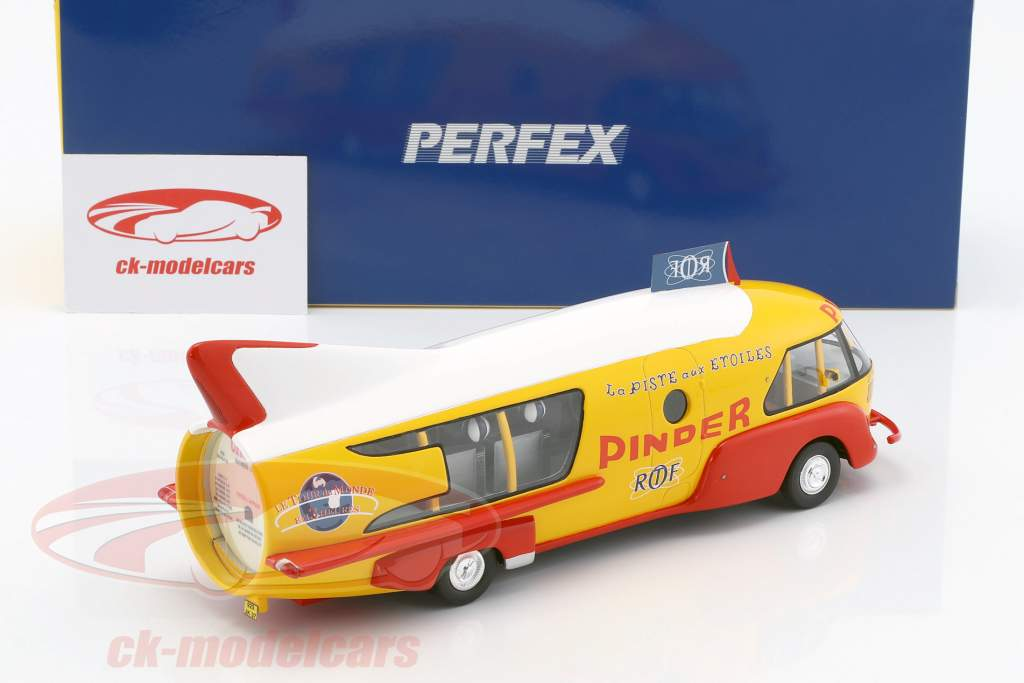 Citroen Type 55 Camion Fusee Cirque Pinder jaune / rouge / blanc 1:43 Momaco