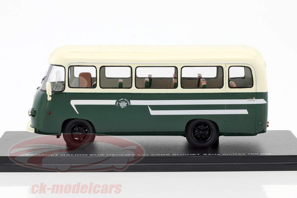 Renault Gallion Bus Heulez Les Cars Buchet green 1:43 Momaco