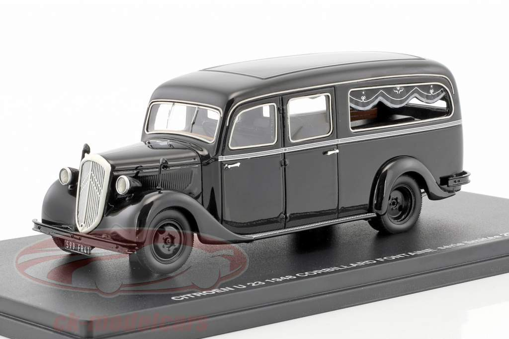 Citroen U23 Corbillard Fontaine year 1948 black 1:43 Momaco