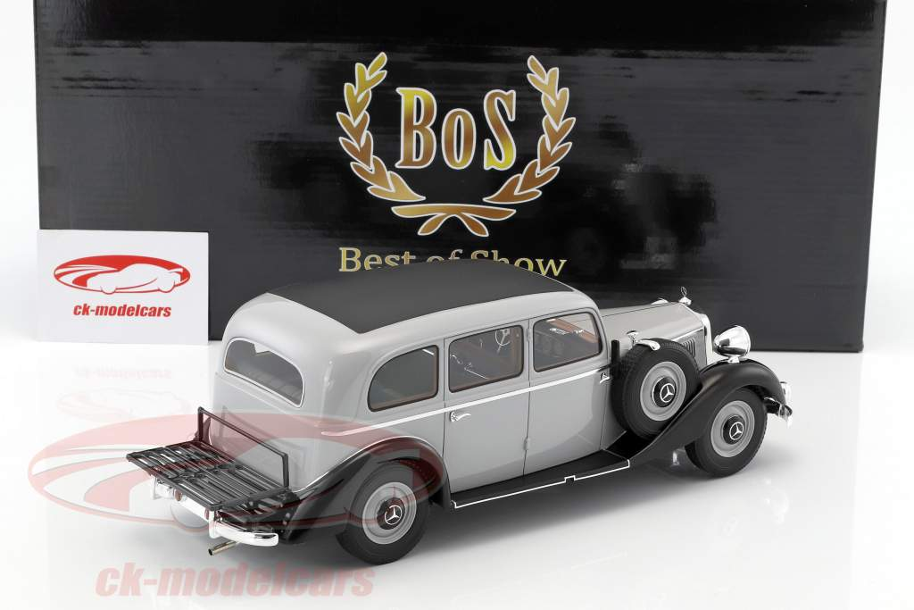 Mercedes-Benz 260D Pullman année de construction 1937 gris clair / noir 1:18 BoS-Models