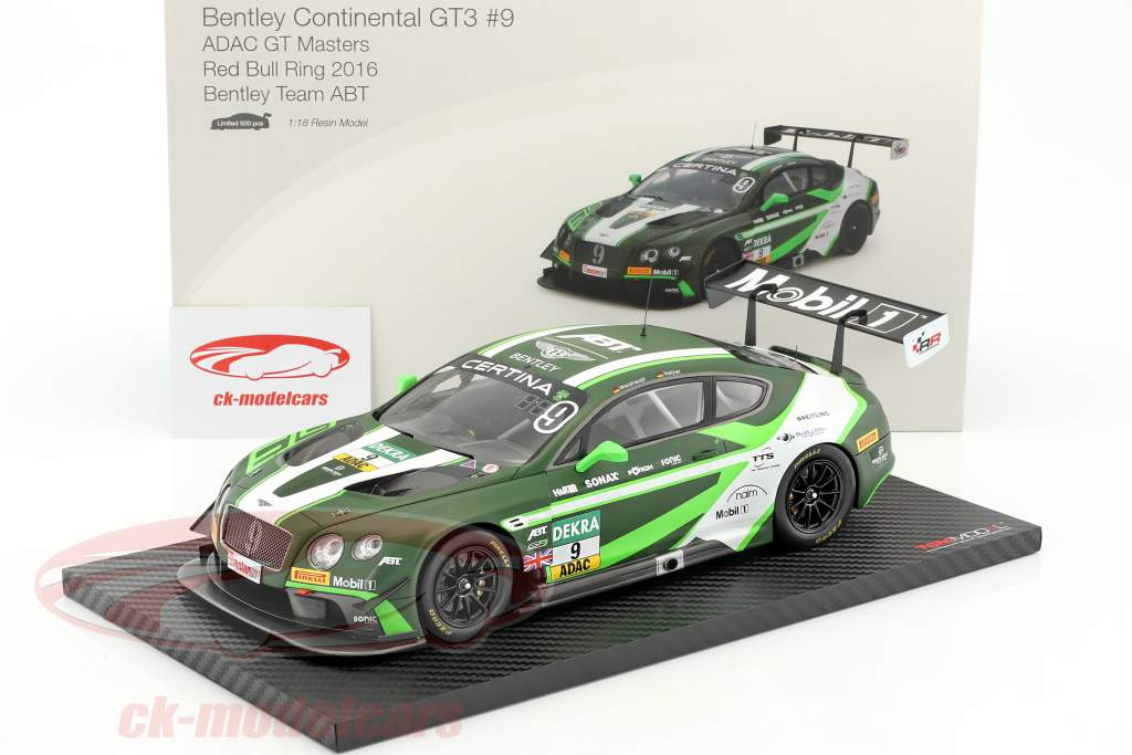 Bentley Continental GT3 #9 ADAC GT Masters Red Bull Ring 2016 1:18 TrueScale