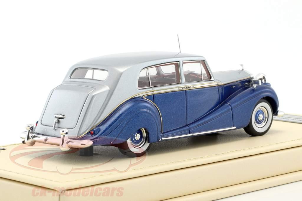 Rolls-Royce Silver Wraith Touring Limousine HJ Mulliner blau / silber 1:43 TrueScale