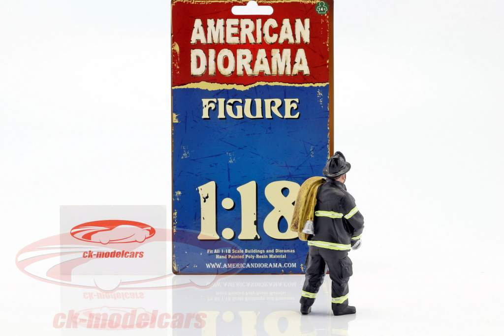 firefighter figure IV Job Done 1:18 American Diorama