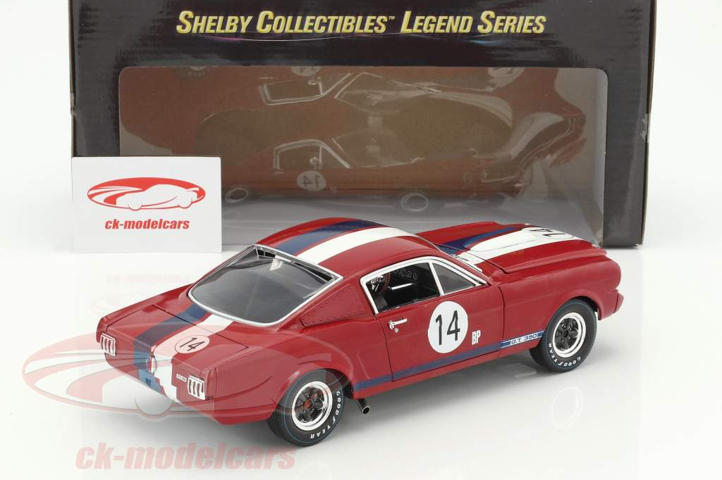 Ford Shelby GT 350R #14 année de construction 1965 rouge / bleu / blanc 1:18 Shelby Collectibles