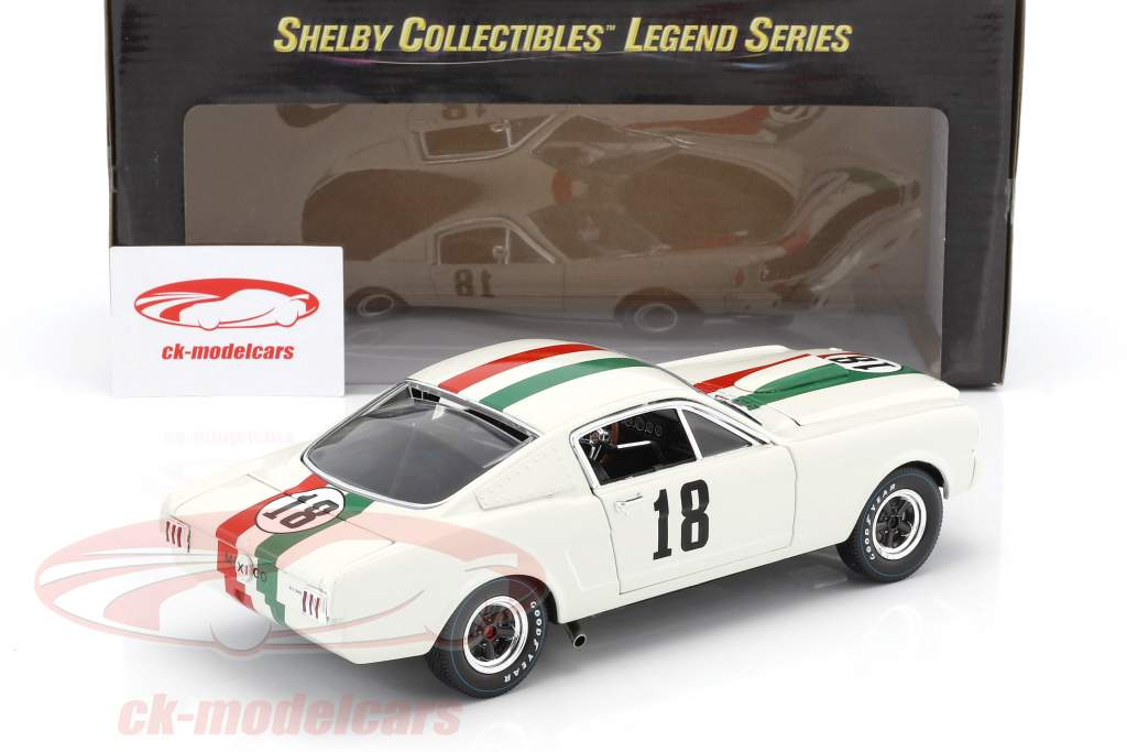 Ford Shelby GT 350R #18 GP Mexique 1965 1:18 Shelby Collectibles