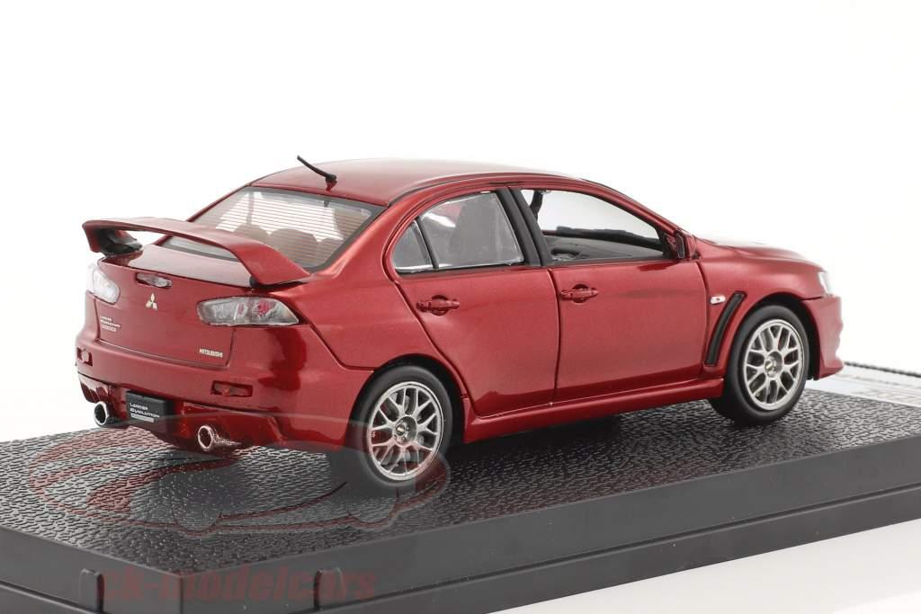 Mitsubishi Lancer Evolution X année de construction 2012 rouge métallique 1:43 Vitesse