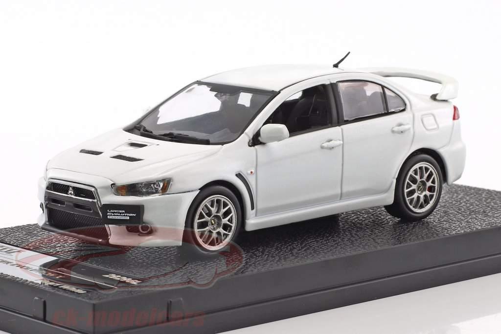 Mitsubishi Lancer Evolution X anno di costruzione 2012 bianco metallico 1:43 Vitesse