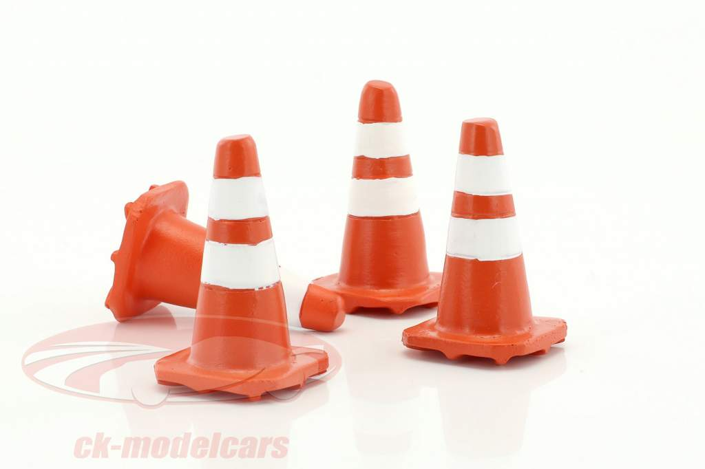 Traffic Cones ensemble 1:18 American Diorama