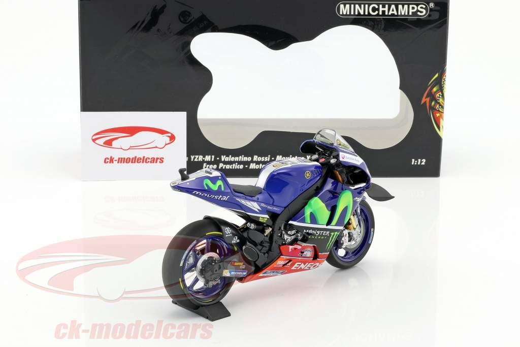 Valentino Rossi Yamaha YZR-M1 #46 gratis pratica Sepang GP MotoGP 2016 1:12 Minichamps