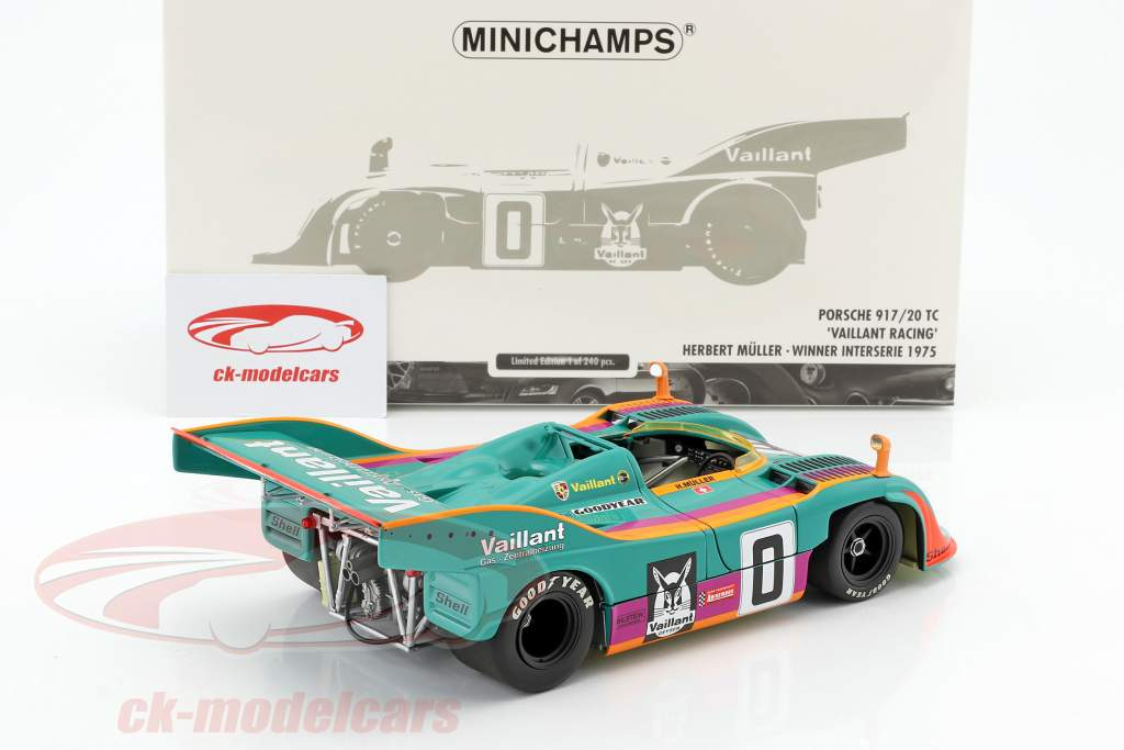 Porsche 917/20 TC Vaillant Racing #0 Winner Interserie 1975 Herbert Müller 1:18 Minichamps