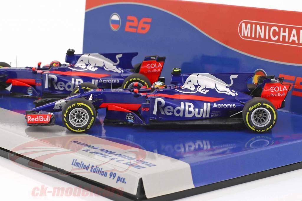 Kvyat #26 & Sainz #55 2-Car Set Toro Rosso STR12 formula 1 2017 1:43 Minichamps