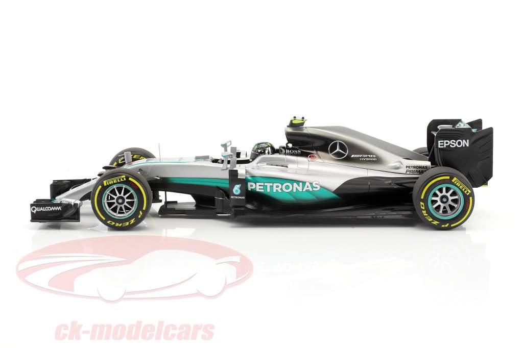 Nico Rosberg Mercedes F1 W07 Hybrid #6 Abu Dhabi GP champion du monde formule 1 2016 1:18 Minichamps