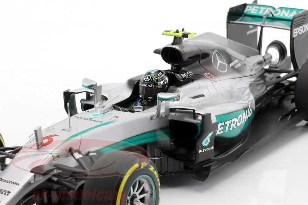 Nico Rosberg Mercedes F1 W07 Hybrid #6 Abu Dhabi GP World Champion formula 1 2016 1:18 Minichamps