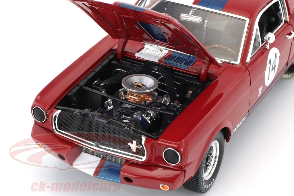 Ford Shelby GT 350R #14 Baujahr 1965 rot / blau / weiß 1:18 Shelby Collectibles