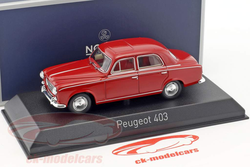 Peugeot 403 anno di costruzione 1963 rosso 1:43 Norev