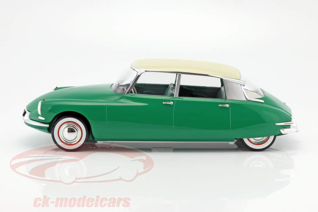 Citroen DS 19 year 1956 green / champagne 1:12 Norev