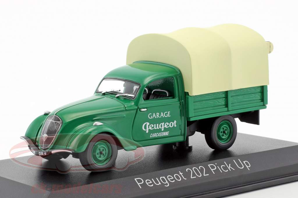 Peugeot 202 Pick-up Garage Peugeot année de construction 1947 vert / beige 1:43 Norev