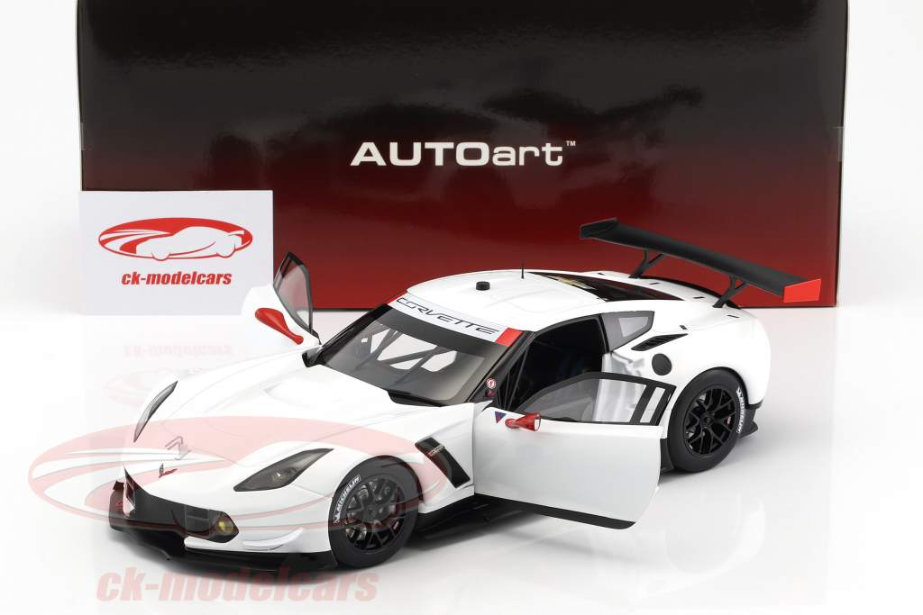 Chevrolet Corvette C7.R Plain Color Version année de construction 2016 blanc / rouge 1:18 AUTOart