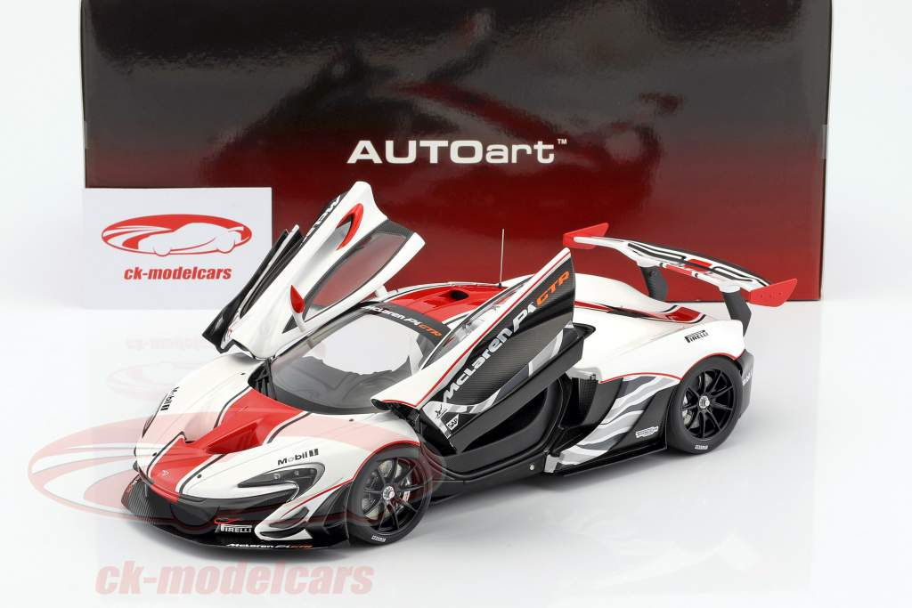 McLaren P1 GTR year 2015 white / red / black 1:18 AUTOart