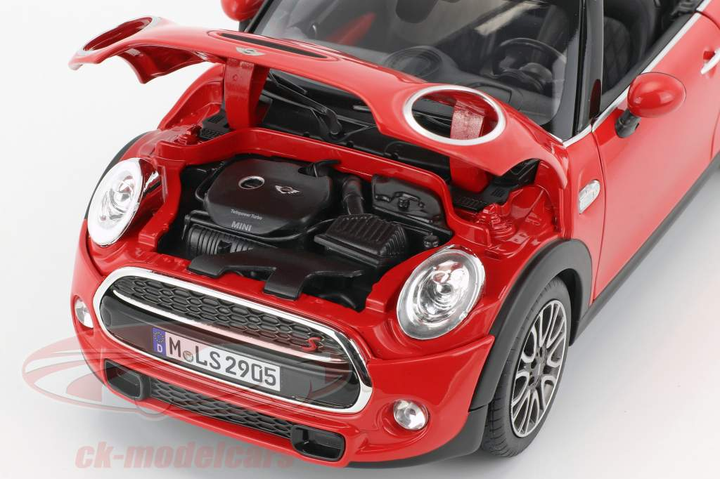 Mini Cooper S Cabriolet (F57) year 2016 red 1:18 Norev