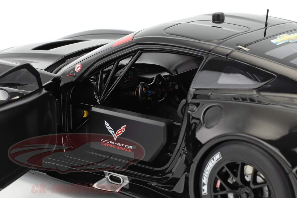 Chevrolet Corvette C7.R Plain Color Version year 2016 glossy black 1:18 AUTOart