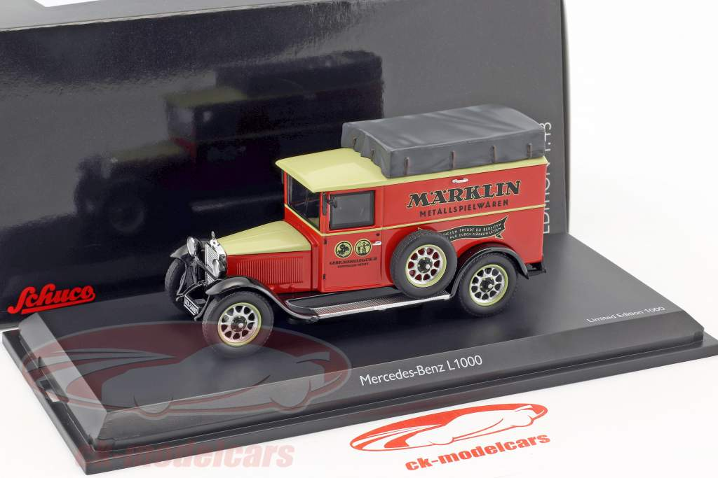 Mercedes-Benz L1000 Märklin red / black / beige 1:43 Schuco