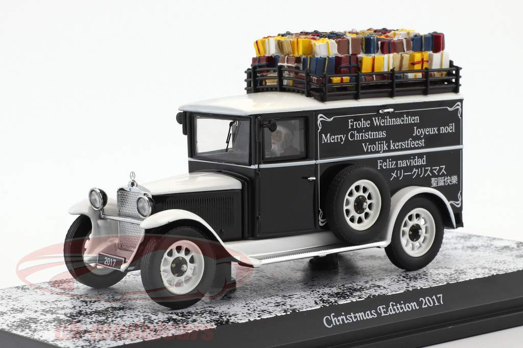 Mercedes-Benz L1000 Christmas Edition 2017 white / black 1:43 Schuco