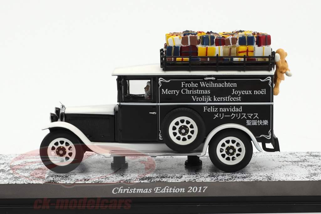 Mercedes-Benz L1000 Natale edizione 2017 bianco / nero 1:43 Schuco